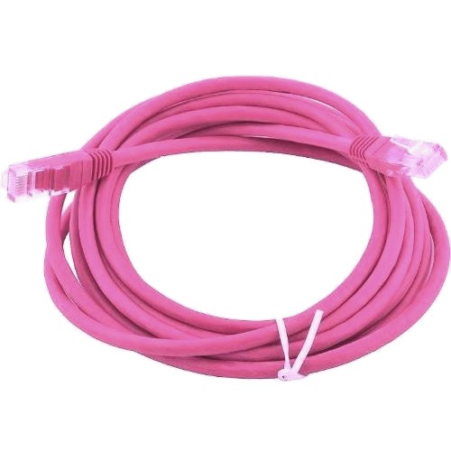 Кабель патчкорд UTP 5е категории  5 метров, розовый