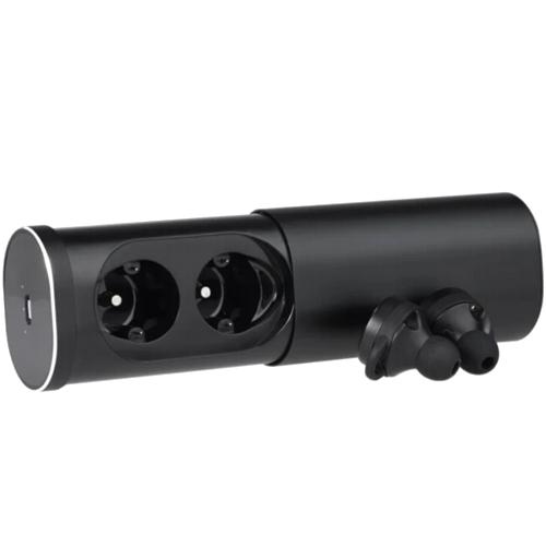 Bluetooth наушники вкладыши с микрофоном  Qcyber TWS V4, беспроводная мобильная гарнитура, чёрные