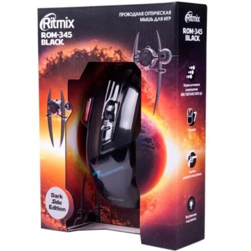 Мышь игровая usb Ritmix ROM-345 чёрная