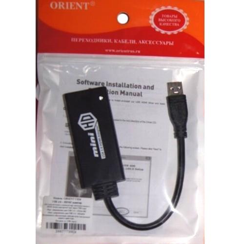 Видео адаптер USB3.0 на HDMI Orient C024 внешняя видеокарта для ТВ или проэктора