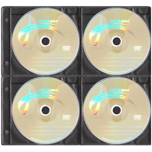 Конверт на 8 компакт-дисков CD-DVD чёрный - 1 шт.