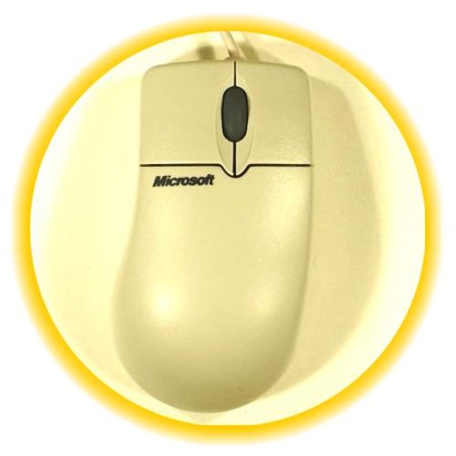 Мышь ps Microsoft 2 кнопки, колесо прокрутки, cерая, не оптическая, oem