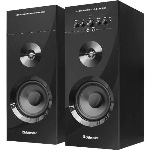 Колонки 2.0 Defender Mercury 60 BT мощность 60Вт bluetooth 5.0 караоке аудио система - чёрные