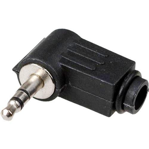 Штекер 3.5мм TRS 3-контактный разъём 1-055 на кабель пластиковый угловой