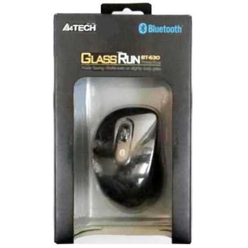 Мышь беспроводная Bluetooth A4Tech BT-630-2 чёрная-металлик