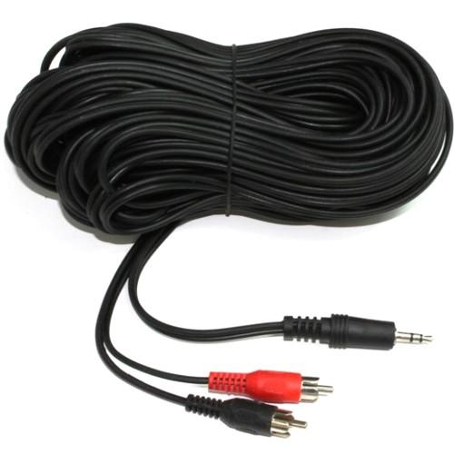 Аудио кабель 3.5мм штекер - 2хRCA штекер 5Bites - 5 метров