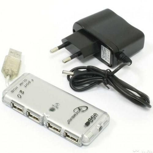 USB2.0 hub хаб разветвитель-концентратор 4 порта Gembird UHB-C244 с блоком питания
