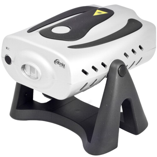 Мини-лазер, стробоскоп Ritmix RLP-1007 встроеный микрофон, для домашних вечеринок