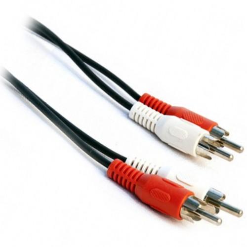 Аудио-видео кабель 2RCA тюльпан штекер-штекер - 1 метр