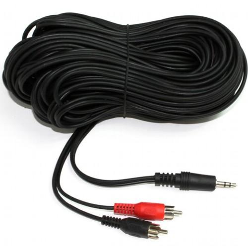 Аудио кабель 3.5мм штекер - 2хRCA штекер Cablexpert CCA-458-15M - 15 метров