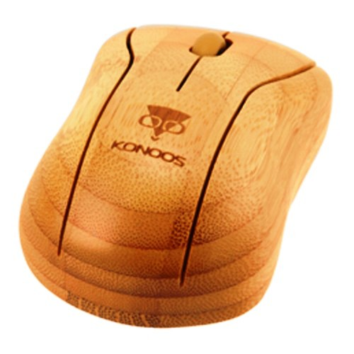 Беспроводная клавиатура и мышь комплект usb Konoos Bambook в бамбуковом корпусе
