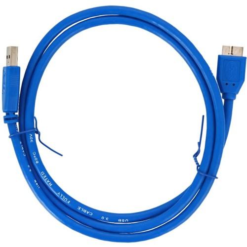 Кабель USB*3.0 Am-microB Cablexpert CCP-mUSB3-AMBM-1 - 0.3 метра, синий
