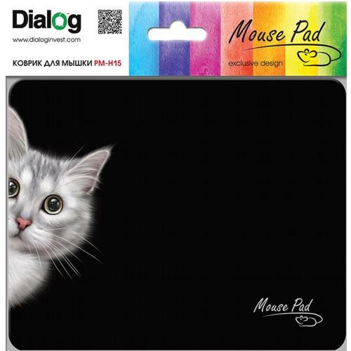 Коврик для мыши с матерчатым покрытием Dialog PM-H15 Сat, кошка