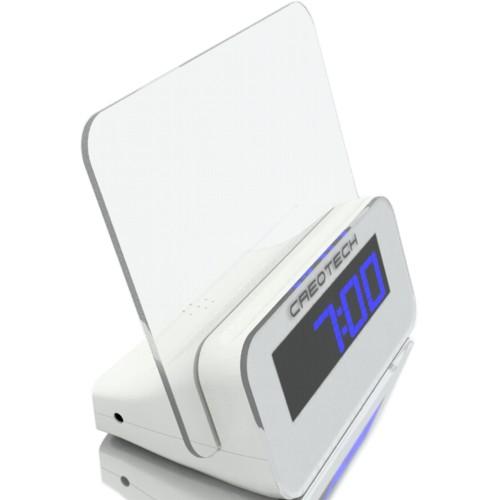 Электронные часы термометр Creotech будильник прозрачная доска сообщений с подсветкой и маркер - синяя