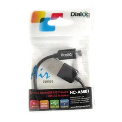 Кабель USB*2.0 Am-microB HC-A5801 - CU-0302 - 0.15 метра