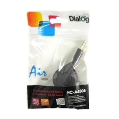 Аудио кабель штекер-штекер 3.5 мм, рулетка HC-A4508 - CA-0108X, Dialog - 0.8 метра