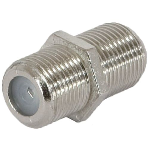 Разъём F-коннектор на кабель RG-6 гнездо-гнездо, бочка