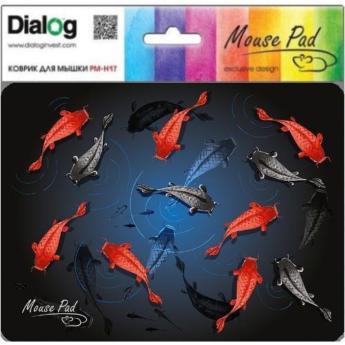 Коврик для мыши с матерчатым покрытием Dialog PM-H17 Fish, рыбы
