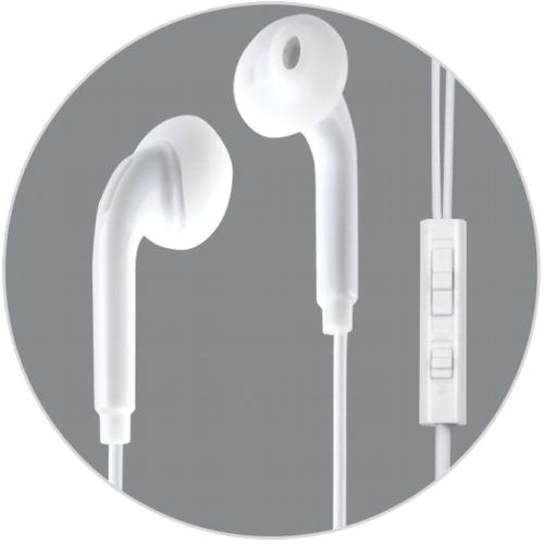 Наушники вкладыши с микрофоном Ritmix RH-113M, мобильная гарнитура, белая
