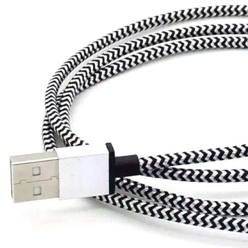 Кабель микро USB*2.0 Am-microB Cablexpert CC-mUSB2sr1m, нейлоновая оплетка, алюминиевые разъемы - 1 метр, серебристый