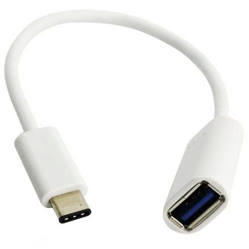 Кабель USB*2.0 Cm-Af с поддержкой OTG Rexant - 0.15 метра, белый