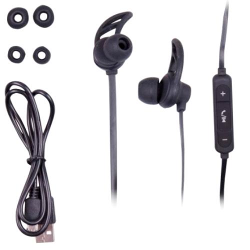 Bluetooth наушники вкладыши с микрофоном Ritmix RH-400BTH, V3, беспроводная мобильная гарнитура, чёрные