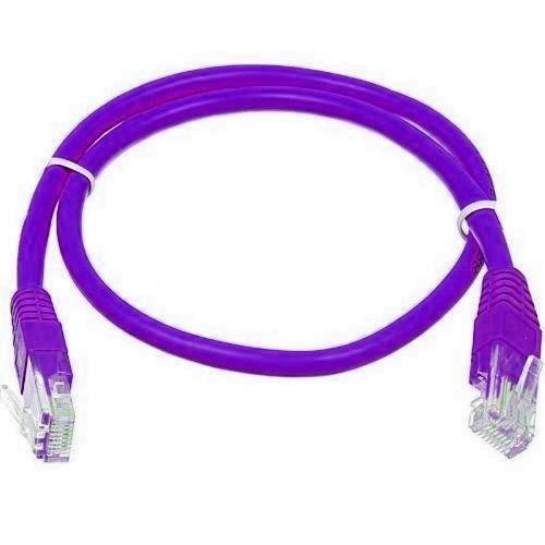 Кабель патчкорд UTP 5е категории  1 метр, фиолетовый