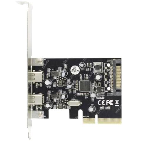 PCI-Express контроллер USB3.1 2 внешних Type-C Orient AM-31U2PE-2С ASM1142