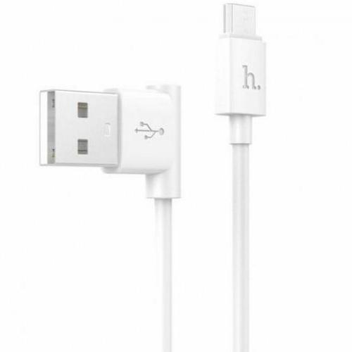 Кабель USB*2.0 Am-microB Hoco UPM10 White, угловой, белый - 1.2 метра