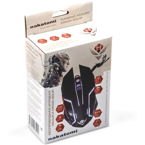Мышь игровая беспроводная Nakatomi MROG-20UR встроеный аккумулятор