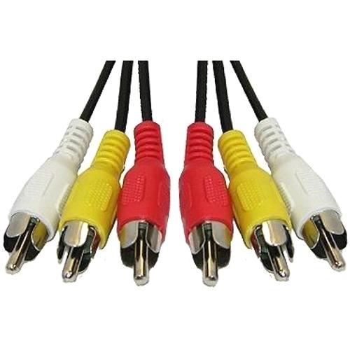 Аудио-видео кабель 3RCA тюльпан штекер-штекер AT0713 - 5 метров