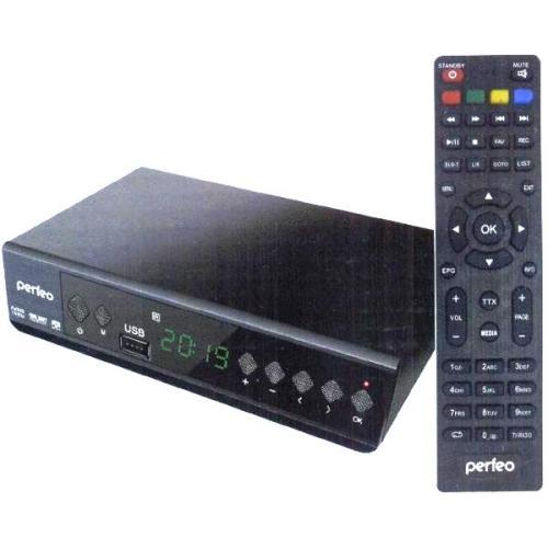 Ресивер DVB-T2 и DVB-C Perfeo Style приёмник цифрового ТВ, Wi-Fi, IPTV, HDMI, 2 USB, DolbyDigital