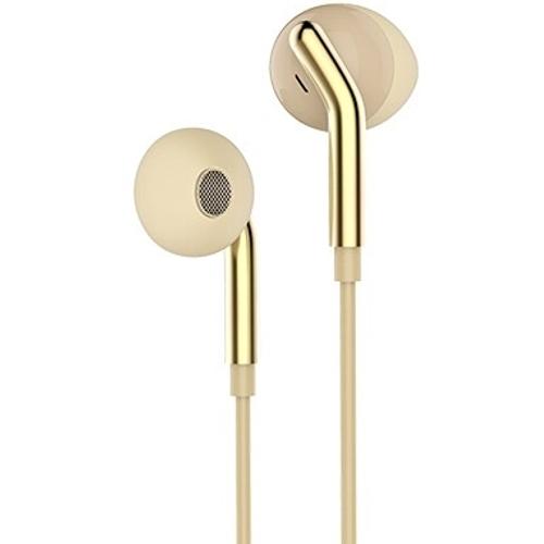 Наушники вкладыши с микрофоном Hoco M25 Your Meaning Gold, мобильная гарнитура, золотистые