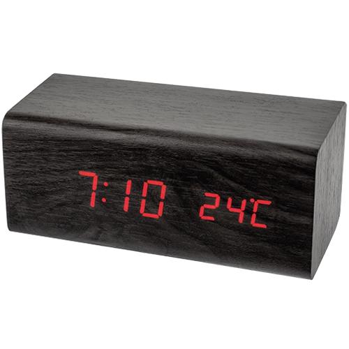Электронные часы Perfeo Block будильник USB, термометр, красные цифры, черный корпус
