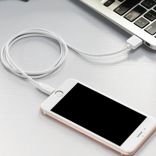 Кабель USB*2.0 Am - Lightning Hoco X1 White, белый - 1 метр, 2 шт. в комплекте
