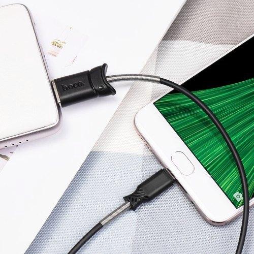 Кабель USB Am - Lightning, Hoco X24 Black, черный - 1 метр