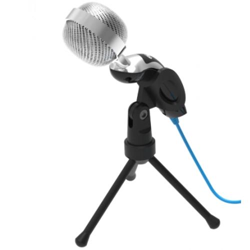 Микрофон Ritmix RDM-127 USB на штативе чёрный