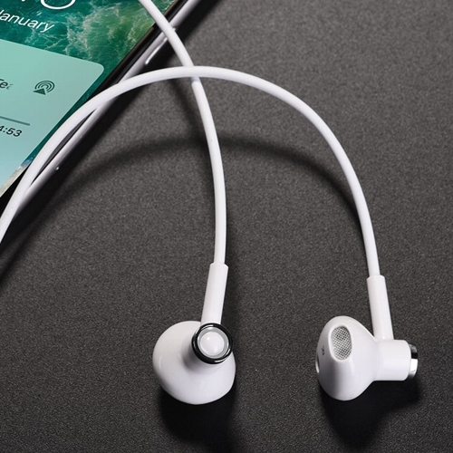 Bluetooth наушники вкладыши с микрофоном Hoco ES21 Wonderful Sports White, беспроводная мобильная гарнитура, белые