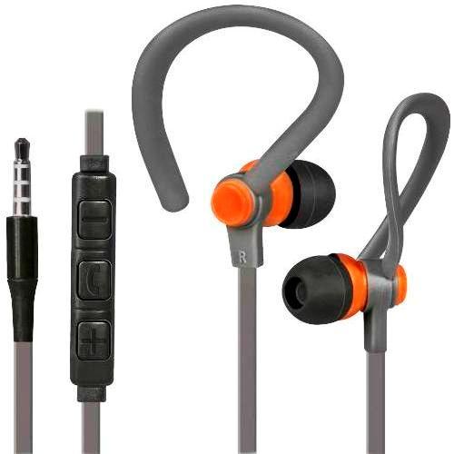 Наушники вкладыши с микрофоном Defender OutFit W760 мобильная гарнитура для смартфонов, серый плюс оранжевый