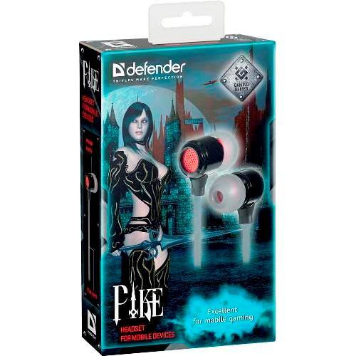 Наушники вкладыши с микрофоном Defender Pike игровая мобильная гарнитура для смартфонов