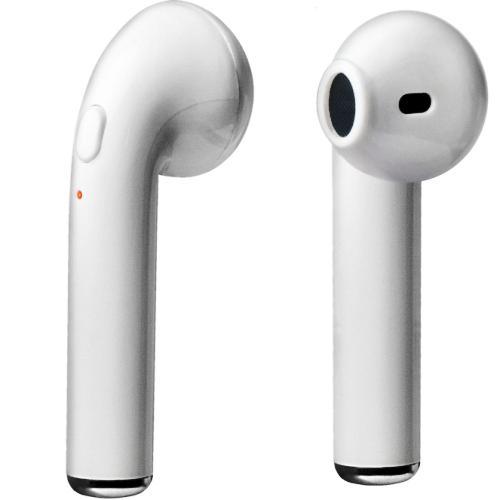 Bluetooth наушники вкладыши с микрофоном Dialog ES-25BT TWS, BTV5, беспроводная мобильная гарнитура белые