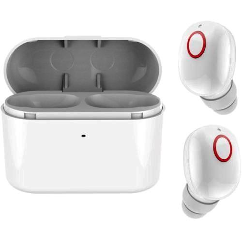 Bluetooth наушники вкладыши с микрофоном TWS KY-TWST13 White, беспроводная мобильная гарнитура, белые