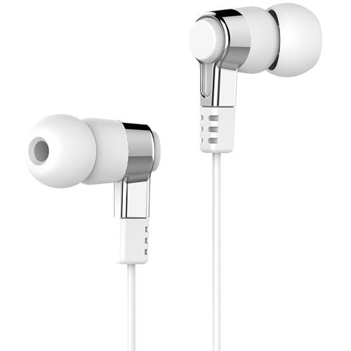 Наушники вкладыши с микрофоном Hoco M52 Amazing Rhyme White, мобильная гарнитура, белые