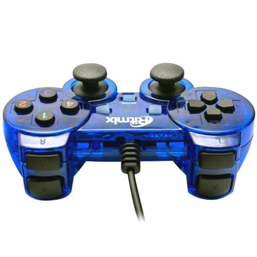 Геймпад Ritmix GP-007, вибрация, 19 кнопок, usb, синий