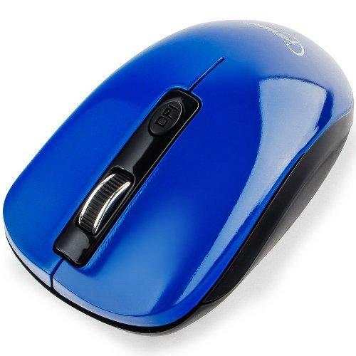 Мышь беспроводная usb Gembird MUSW-400-B, бесшумный клик, 4кн, 1600 dpi, чёрно-синяя
