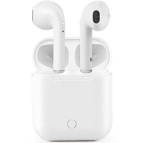 Bluetooth наушники вкладыши с микрофоном i9S TWS Double V5.0, беспроводная мобильная гарнитура, силиконовый чехол, белые