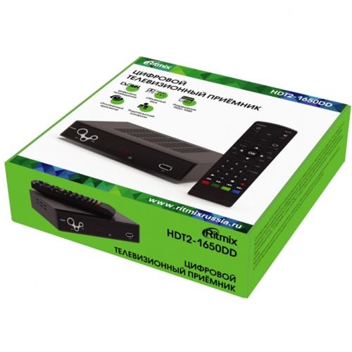 Ресивер DVB-T2 Ritmix HDT2-1650DD  приемник цифрового ТВ, HDMI, USB