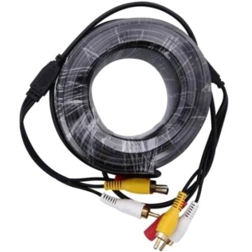 Кабель для камер видеонаблюдения видео BNC  плюс  питание  плюс  микрофон Orient CVAP-20, 20 метров