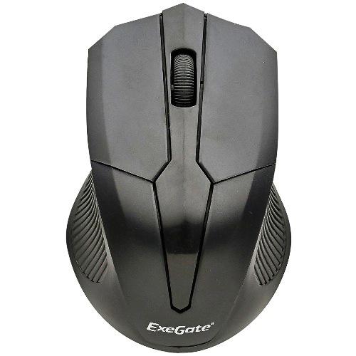 Мышь беспроводная usb Exegate SR-9034, 4 кнопки, 1600 dpi - чёрная