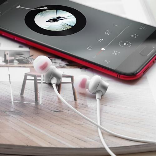 Наушники вкладыши с микрофоном Hoco M51 Proper Sound White, мобильная гарнитура, белые